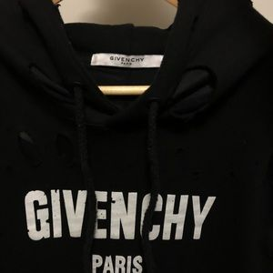 Black Distressed Givenchy Hoodie